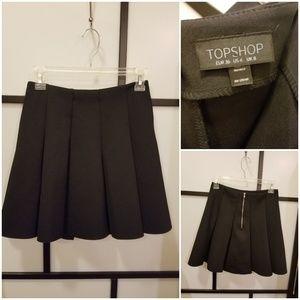 Topshop black A-line skirt. Size 4